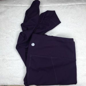 Yogalicious Purple Ruched Full Length Leggings